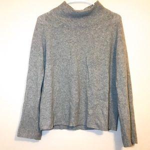 Madewell Heathered Grey Mock Turtle Neck Sweater